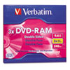 Type 4 Double-Sided DVD-RAM Cartridge, 9.4GB, 3x