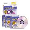 Dual-Layer DVD+R Discs, 8.5GB, 2.4x, w/Jewel Cases, 3/Pack, Silver