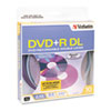 Dual-Layer DVD+R Discs, 8.5GB, 2.4x, Spindle, 10/Pack, Silver
