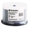 Verbatim Inkjet Printable DVD-R Discs, 4.7GB, 8x, Spindle, White, 50/Pack