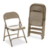 Metal Folding Chairs, Bronze, 4/Carton