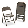 Metal Folding Chairs, Mocha, 4/Carton