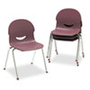 IQ Series Stack Chair, 17-1/2&quot; Seat Height, Wine/Chrome, 4/Carton