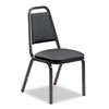 Vinyl Upholstered Stacking Chair, 18 x 22 x 34-1/2, Black, 4/Carton