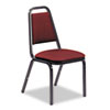 Vinyl Upholstered Stack Chair, 18w x 22d x 34-1/2h, Wine/Black, 4/Carton