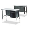 Jr. Executive Desk, 34w x 20d, Gray Nebula