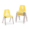 "9000 Series Classroom Chairs, 14"" Seat Height, Squash/Chrome, 4/Carton"