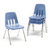 "9000 Series Classroom Chairs, 16"" Seat Height, Blueberry/Chrome, 4/Carton"