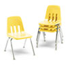 "9000 Series Classroom Chairs, 16"" Seat Height, Squash/Chrome, 4/Carton"