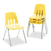 "9000 Series Classroom Chair, 18"" Seat Height, Squash/Chrome, 4/Carton"