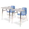 9400 Series Chair Desk, 21w x 33-1/2d x 30h, Gray Nebula/Blueberry, 2/Carton