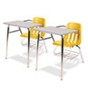9400 Series Chair Desk, 21w x 33-1/2d x 30h, Gray Nebula/Squash, 2/Carton