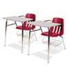 9400 Series Chair Desk, 21w x 33-1/2d x 30h, Gray Nebula/Red, 2/Carton