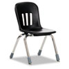 Metaphor Series Classroom Chair, 12-1/2&quot; Seat Height, Black/Chrome, 5/Carton