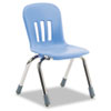 Metaphor Series Classroom Chair, 12-1/2&quot; Seat Height, Blueberry/Chrome, 5/Carton