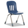 "Metaphor Series Classroom Chair, 12-1/2"" Seat Height, Navy Blue/Chrome, 5/Carton"
