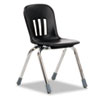 Metaphor Series Classroom Chair, 14-1/2&quot; Seat Height, Black/Chrome, 5/Carton