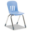 "Metaphor Series Classroom Chair, 14-1/2"" Seat Height, Blueberry/Chrome, 5/Carton"