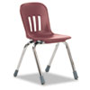 "Metaphor Series Classroom Chair, 14-1/2"" Seat Height, Wine/Chrome, 5/Carton"
