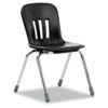 Metaphor Series Classroom Chair, 16-1/2&quot; Seat Height, Black/Chrome, 4/Carton