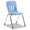 Metaphor Series Classroom Chair, 16-1/2&quot; Seat Height, Blueberry/Chrome, 4/Carton