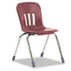 "Metaphor Series Classroom Chair, 16-1/2"" Seat Height, Wine/Chrome, 4/Carton"