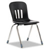 "Metaphor Series Classroom Chair, 18"" Seat Height, Black/Chrome, 4/Carton"