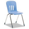"Metaphor Series Classroom Chair, 18"" Seat Height, Blueberry/Chrome, 4/Carton"