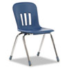 "Metaphor Series Classroom Chair, 18"" Seat Height, Navy Blue/Chrome, 4/Carton"
