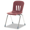 "Metaphor Series Classroom Chair, 18"" Seat Height, Wine/Chrome, 4/Carton"