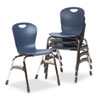 "Ergonomic Stack Chair, 18"" High Zuma Bucket Seat, Navy, 4/Carton"