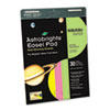 Astrobrights Easel Pads, 25 x 30-3/4, Assorted, 30-Sheet 2/Carton