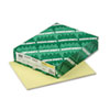 Exact Index Card Stock, 110 lbs., 8-1/2 x 11, Canary, 250 Sheets/Pack