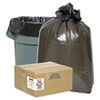 2-Ply Low-Density Can Liners, 7-10gal, .6 mil, 24 x 23, Black, 500/Carton