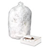 High Density Can Liners, 55-60gal, 14 mic, 38 x 60, Natural, 200/Carton