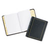 Looseleaf Minute Book, Black Leather-Like Cover, 125 Pages, 8 1/2 x 11