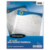 Job Ticket Holder, Non-Glare Finish, Clear Front/Frosted Back, 10/Pack
