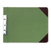 Canvas Sectional Post Binder, 11 x 8-1/2, 2-3/4 Center, Green