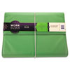 WorkStyle Cut and Sewn Filer, One Pocket, Two Inch Capacity, Letter, Green