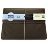 WorkStyle Cut and Sewn Filer, One Pocket, Two Inch Capacity, Letter, Brown