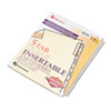Gold Pro Insertable Tab Index, Clear 5-Tab, Letter, Buff Sheets