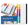 Multi-Dex Quick Reference Index, Assorted Color 8-Tab, Letter, 8/Set
