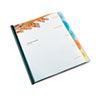 Polypropylene View-Tab Report Cover, Binding Bar, Letter, Holds 40 Pages, Clear