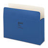 ColorLife 3 1/2 Inch Expansion Pocket, Straight Tab, Dark Blue, 25/Box