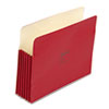 ColorLife 5 1/4 Inch Expansion Pocket, Straight Tab, Letter, Red, 10/Box