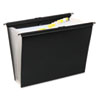 Slidebar File with Expanding 13 Pockets, Poly, Letter, Black
