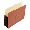 Seven Inch Expansion Pocket, Straight, Letter, Redrope, 10/Box