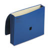 ColorLife Three Inch Expansion Wallets with Velcro Gripper, Letter, Dark Blue