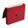 ColorLife Three Inch Expansion Wallets with Velcro Gripper, Letter, Red