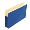 ColorLife 3 1/2 Inch Expansion Pocket, Straight Tab, Legal, Dark Blue, 25/Box